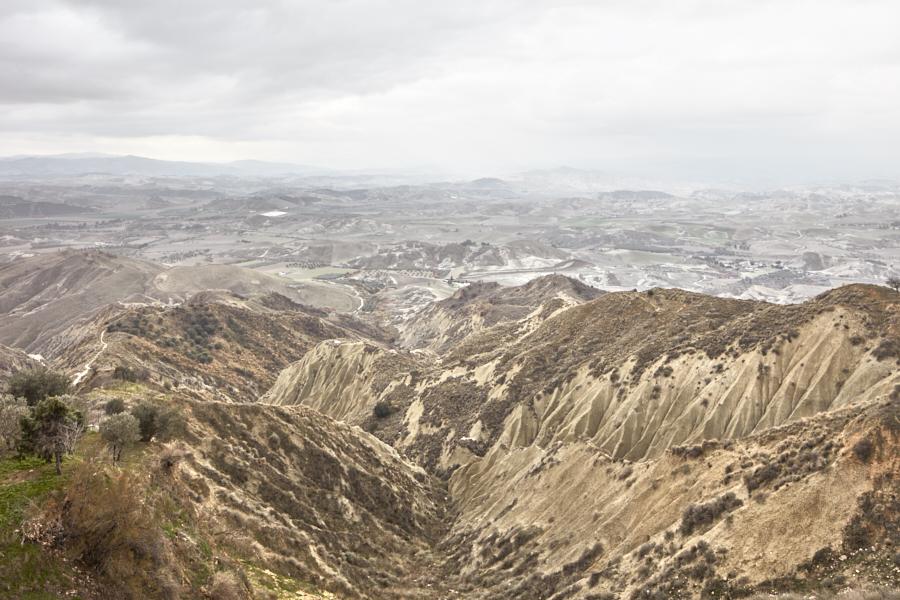 Collina Materana Guardando giù verso i dirupi dei calanchi di Pisticci – Urban Reports Alessandro Guida