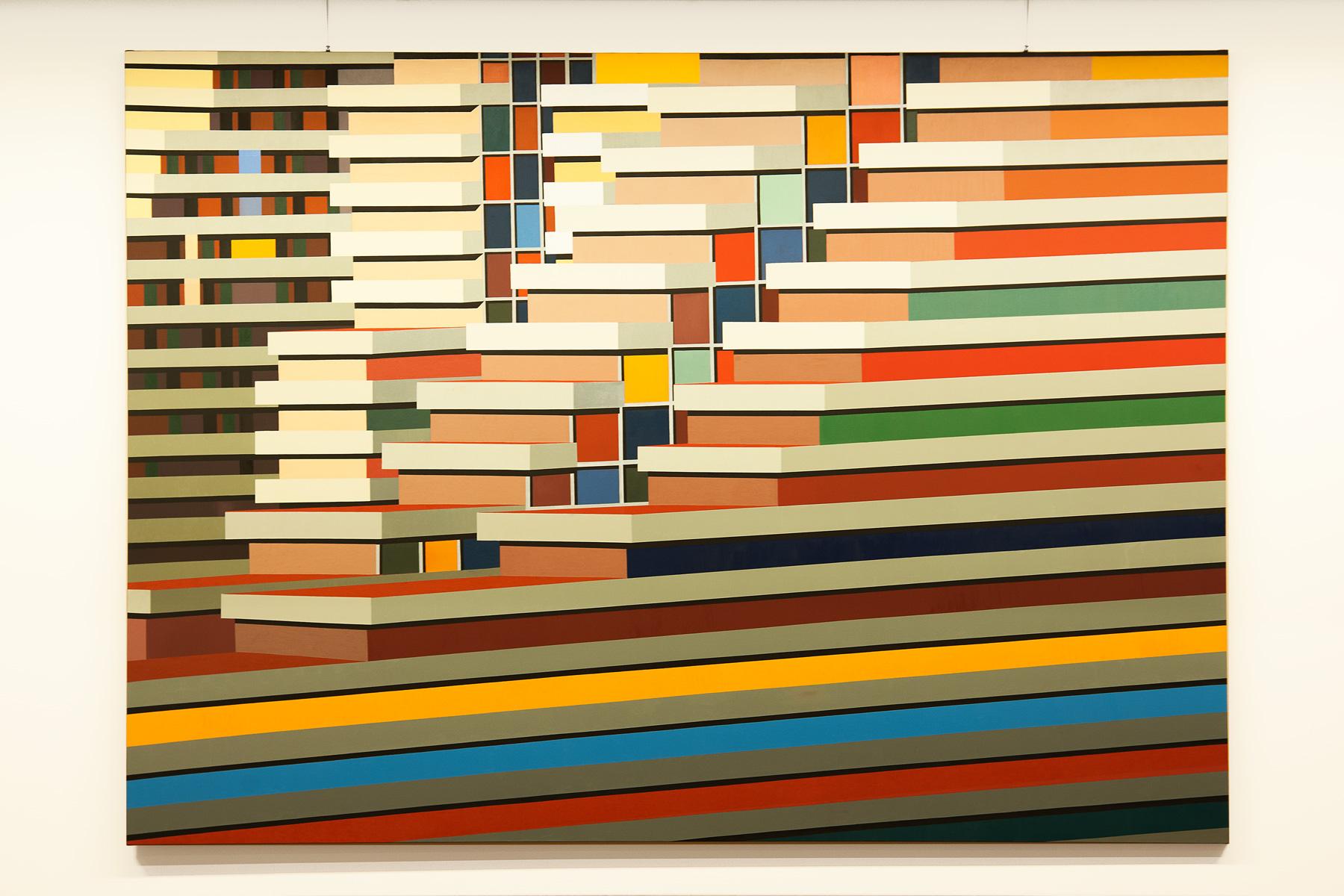 Marco Petrus, M21 (2016), olio su tela, 180 x 250 cm
