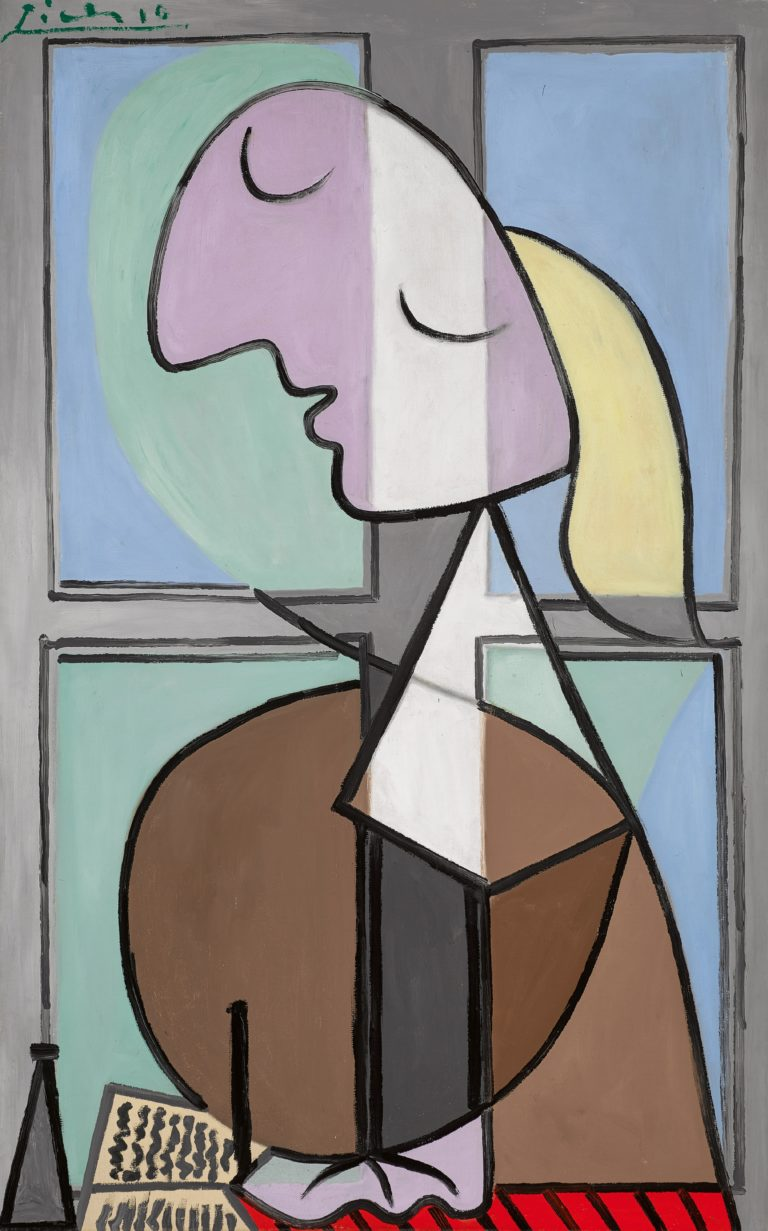 Pablo Picasso, Buste de femme de profil. Femme écrivant, oil on canvas, 116.2 by 73.7cm., 45¾ by 29in., Painted in April 1932 (estimate upon request) – Copyright Sotheby's