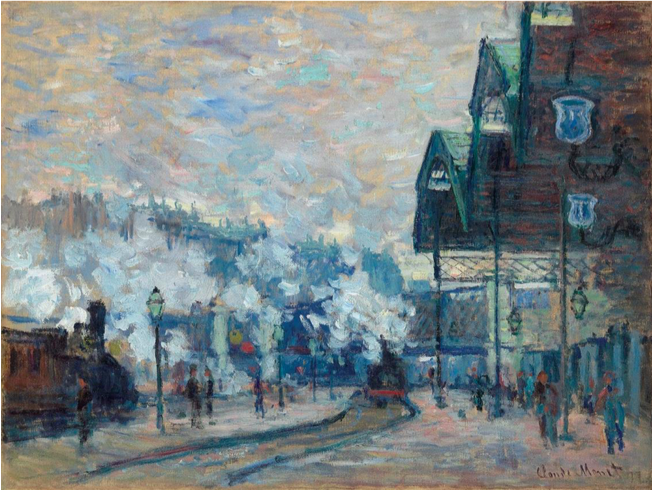 Claude Monet, La Gare Saint-Lazare, Vue extérieure,