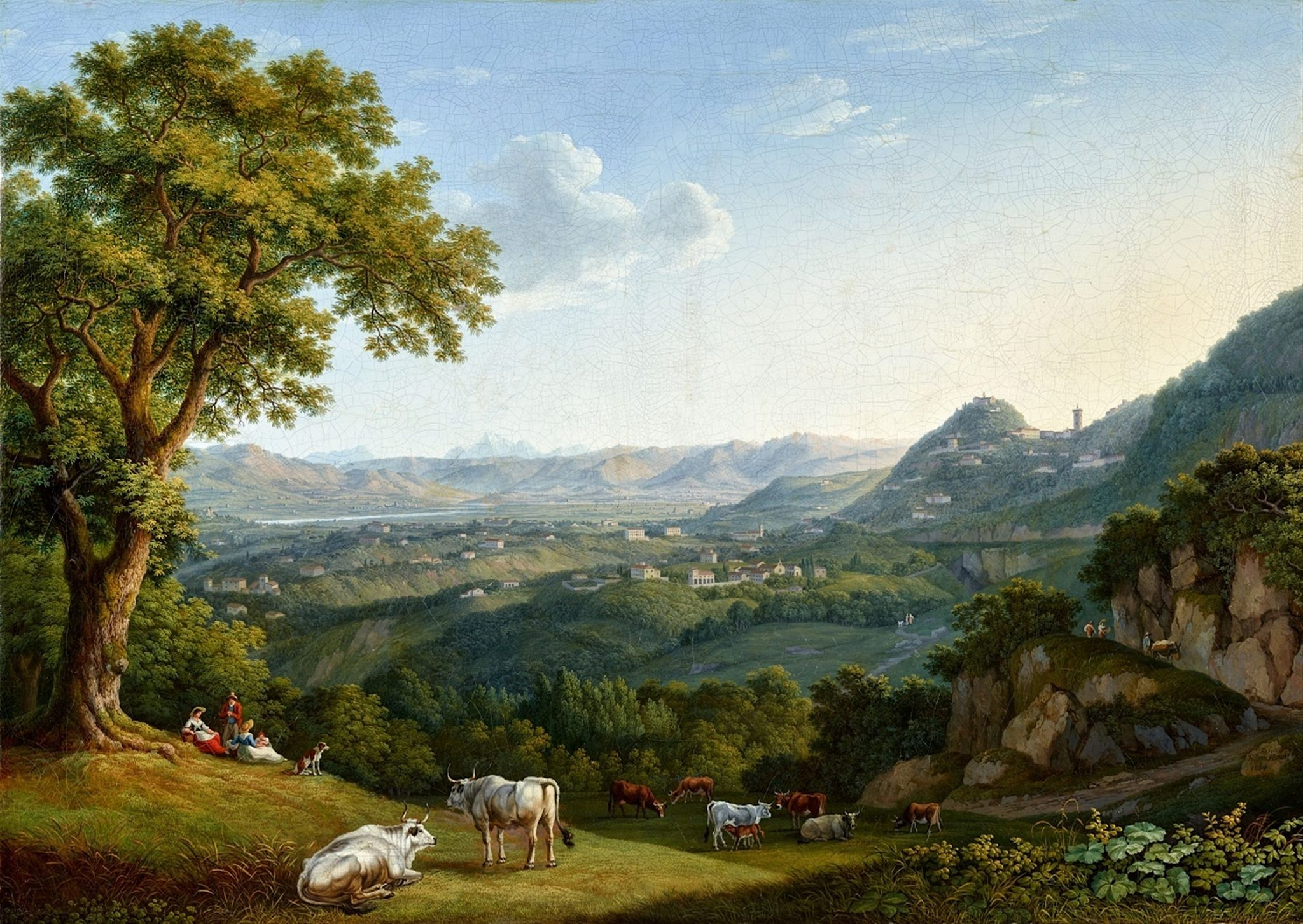 Lempertz Lot 1301 Jacob Philipp Hackert View of the Arno Valley and Fiesole Estimated price: € 70.000 - € 90.000
