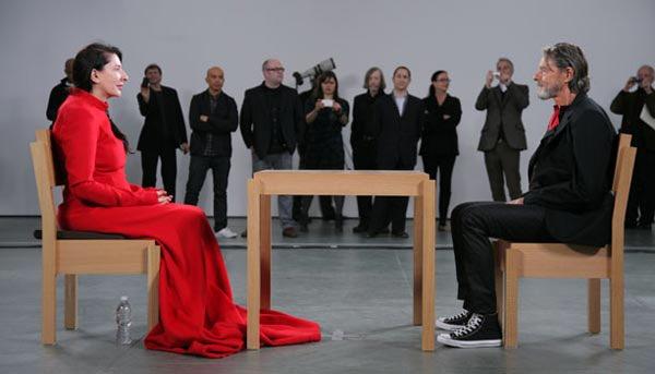 Marina Abramovic e Ulay al MoMA di New York in occasione di The Artist is Present