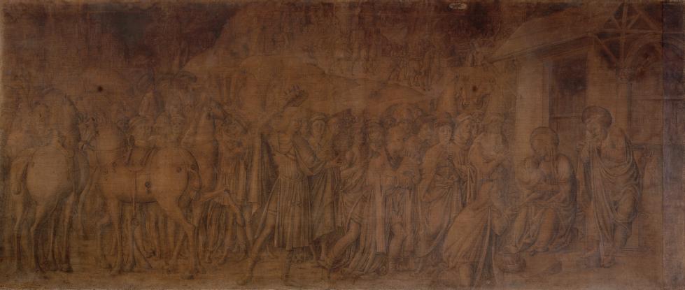 Adorazione dei Magi. Pittore veronese mantegnesco, 1490 . Longari Arte Milano
