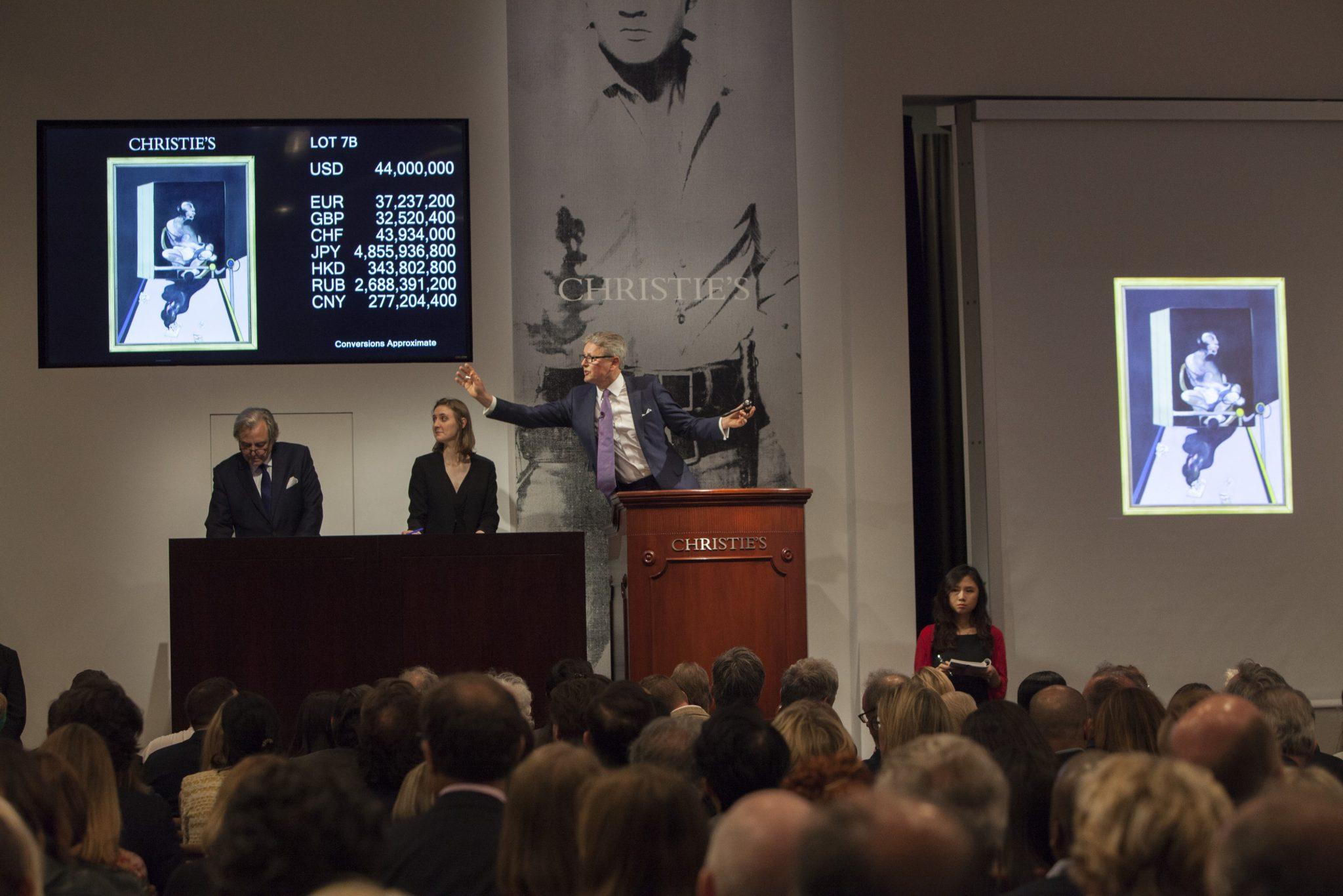 Francis Bacon guida l'asta di Christie's a New York con 49,8 milioni $