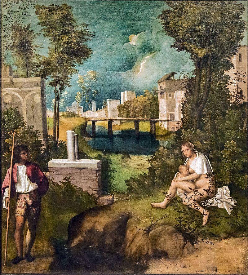 empesta Accademia - La tempesta - Giorgione.jpg Autore Giorgione Data 1502-1503 circa Tecnica olio su tela Dimensioni 83×73 cm Ubicazione Gallerie dell'Accademia, Venezia