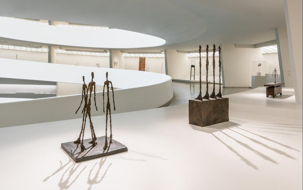 Alberto Giacometti al Guggenheim Museum di New York (foto twitter Guggenheim)
