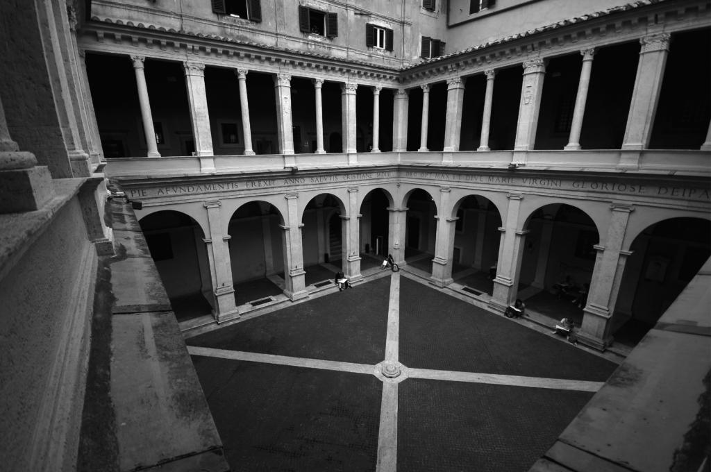 Il Chiostro del Bramante, a Roma