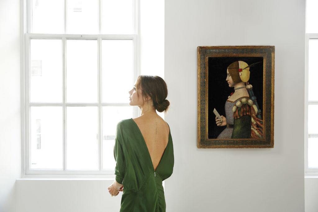 Victoria Beckham X Old Master Paintings. Circle of Leonardo da Vinci. Photo: Chris Floyd.