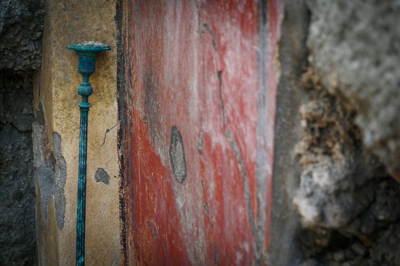 Il Candelabro ritrovato Foto Parco Archeologico Pompei