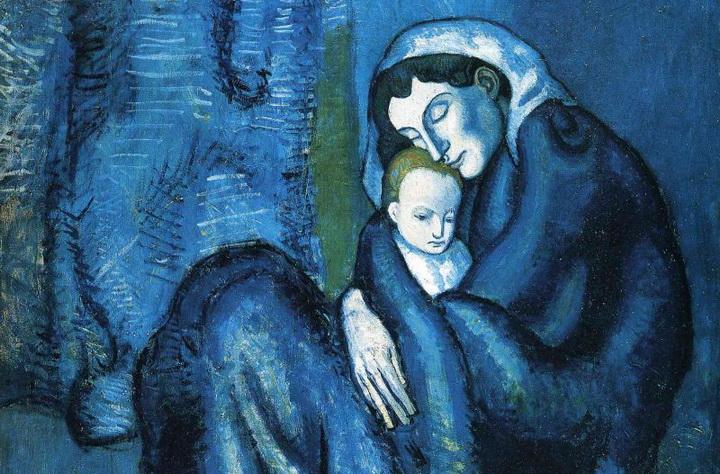 Picasso, Madre con bambino, 1902