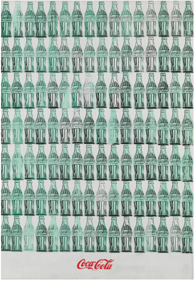 Andy Warhol (1928–1987), Green Coca Cola Bottles, (1962). Acrylic, screenprint, and graphite pencil on canvas, 82 3/4 × 57 1/8 in. (210.2 × 145.1 cm). Whitney Museum of American Art, New York; purchase, with funds from the Friends of the Whitney Museum of American Art 68.25 © 2018 The Andy Warhol Foundation for the Visual Arts, Inc. / Artists Rights Society (ARS), New York