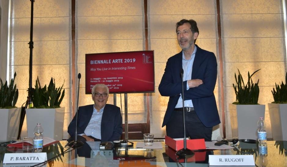Il presidente della Biennale Paolo Baratta e il direttore Ralph Rugoff