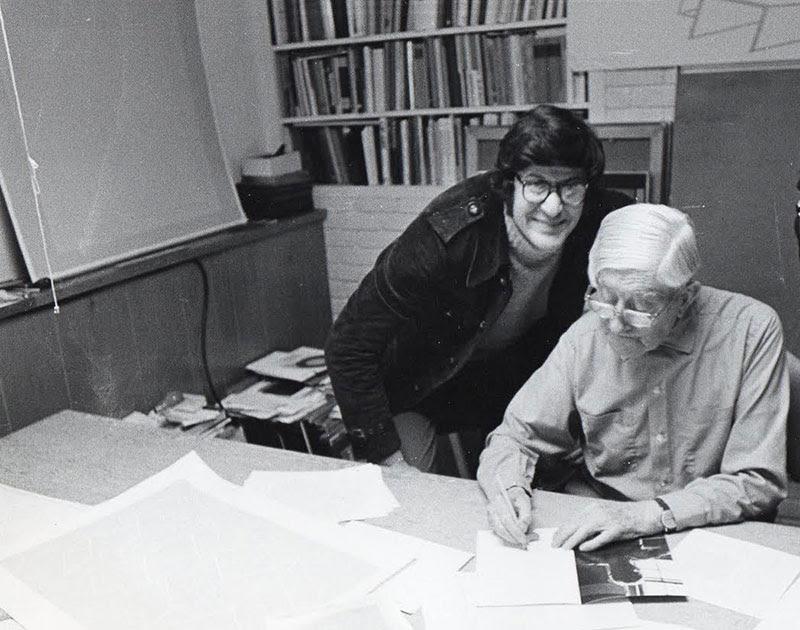 Pio Monti e Josef Albers. Fotografia di Giancarlo Politi.