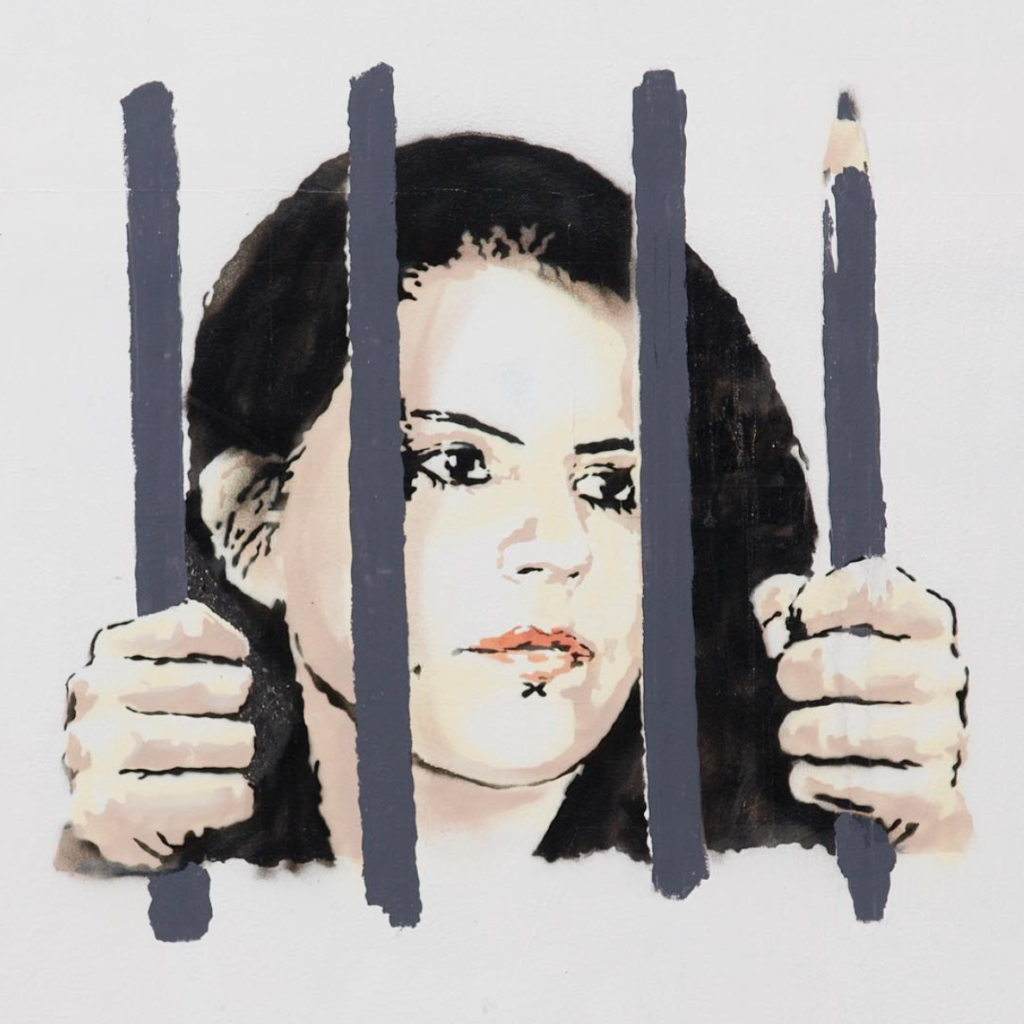 Banksy, Free Zehra Dogan (2018), detail. Courtesy of the Houston Bowery Wall.