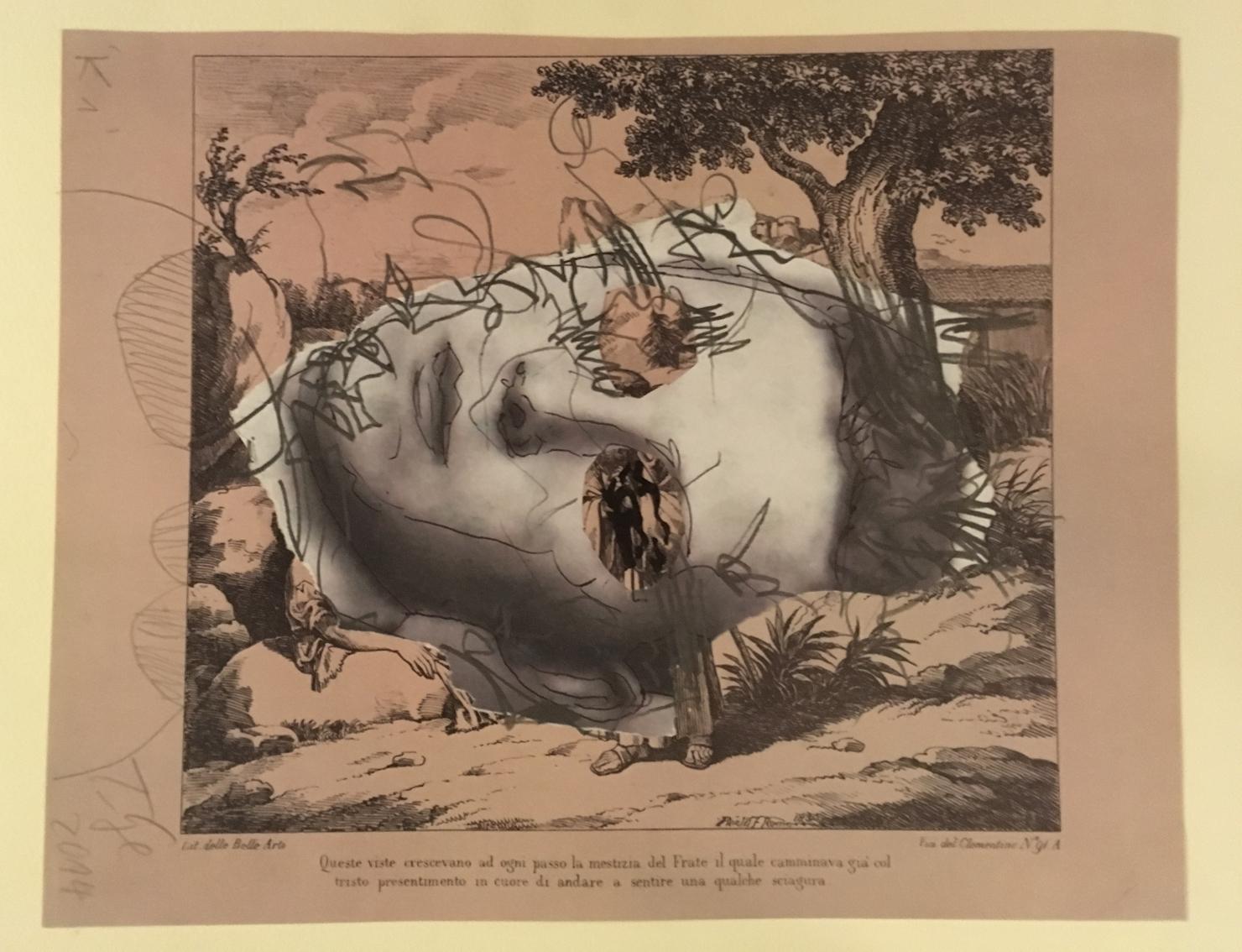 Thomas Lange, K1, 2014, tecnica mista su carta, 30 x 14 cm, courtesy Atelier Thomas Lange