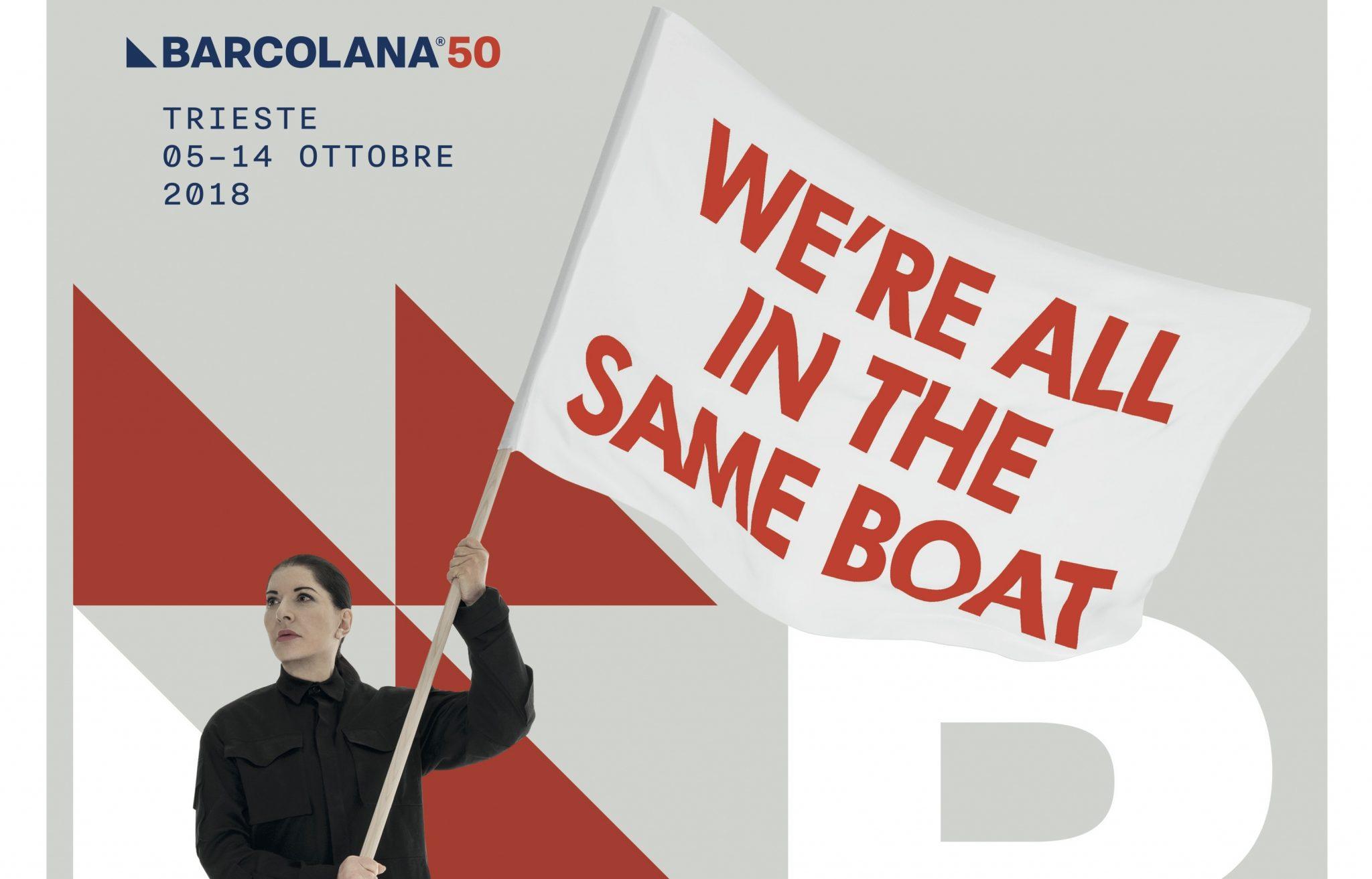 Un particolare del manifesto di Marina Abramovic per Barcolana50