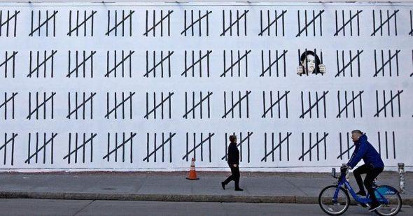 Banksy, Free Zehra Dogan (2018 Photo: @ Banksy