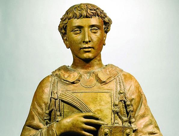 busto in terracotta raffigurante San Lorenzo realizzato da Donatello