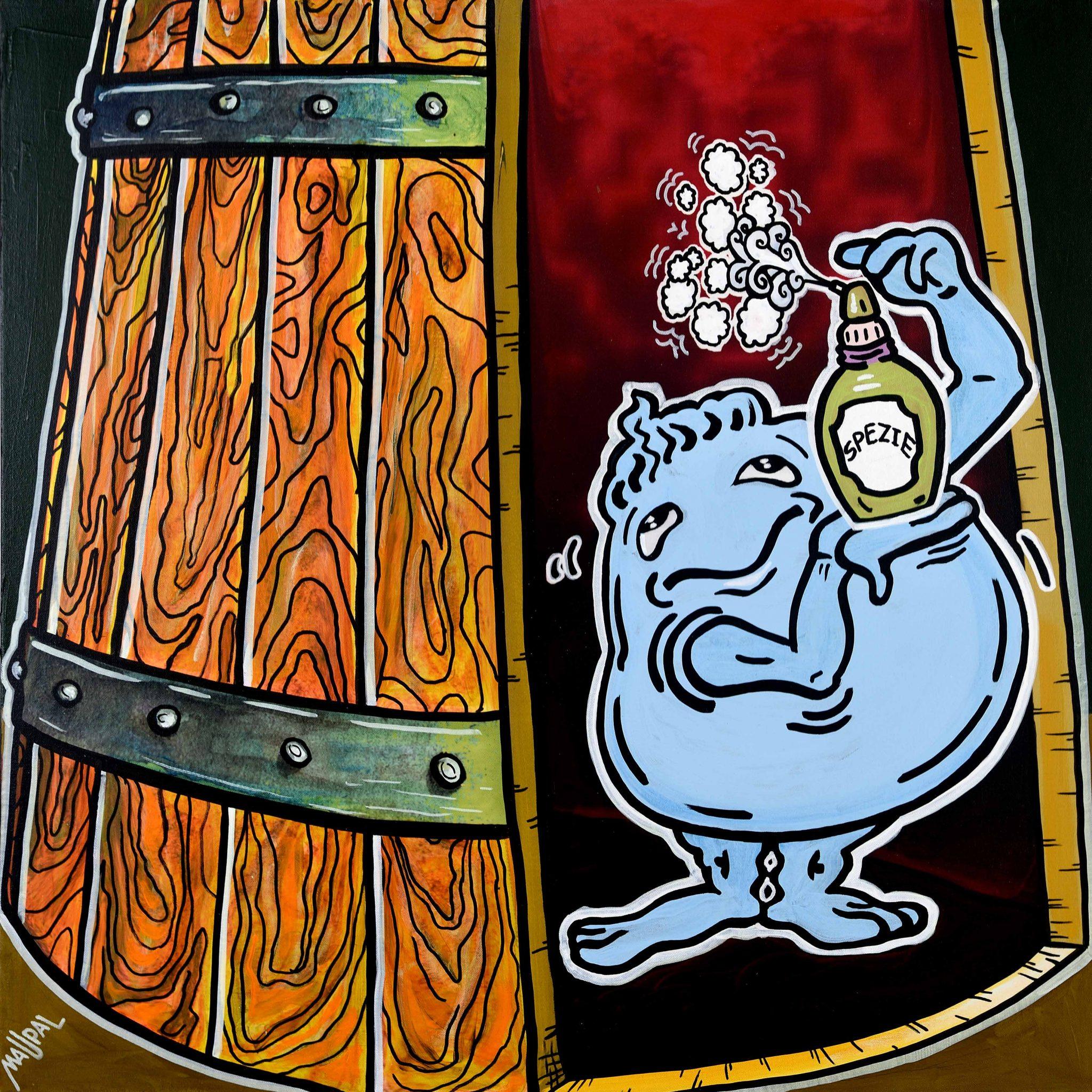 Vite Colte. Le stagioni del vino nella street pop art di Maupal, a Barolo
