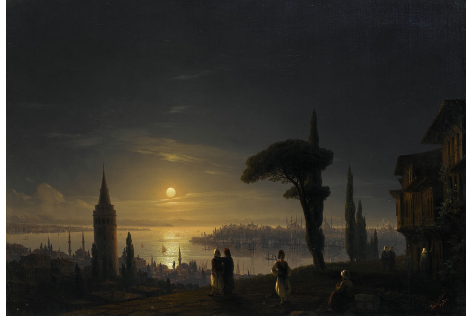 Ivan Aivazovsky, The Galata Tower by Moonlight
