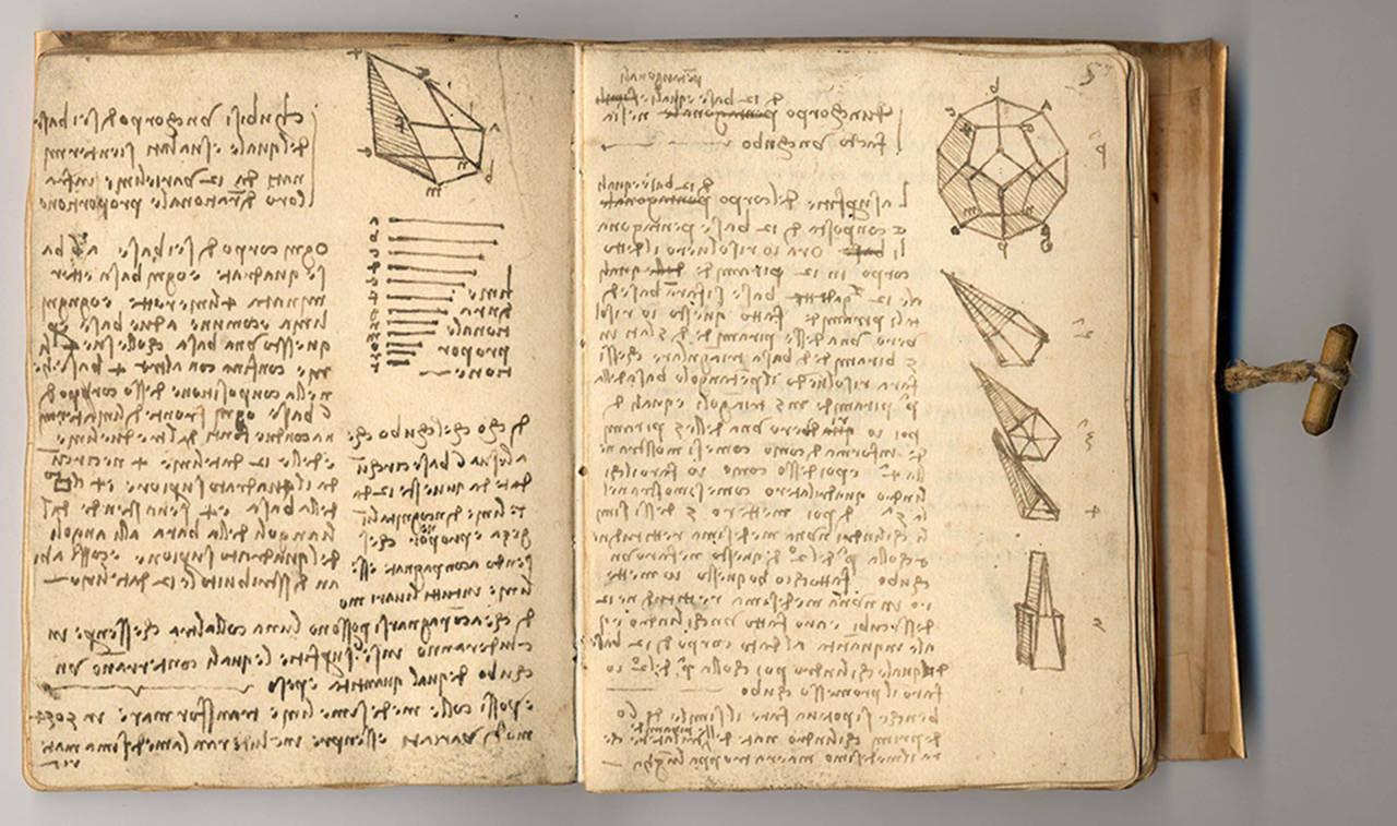 Il Victoria and Albert Museum pubblica online due taccuini di Leonardo
