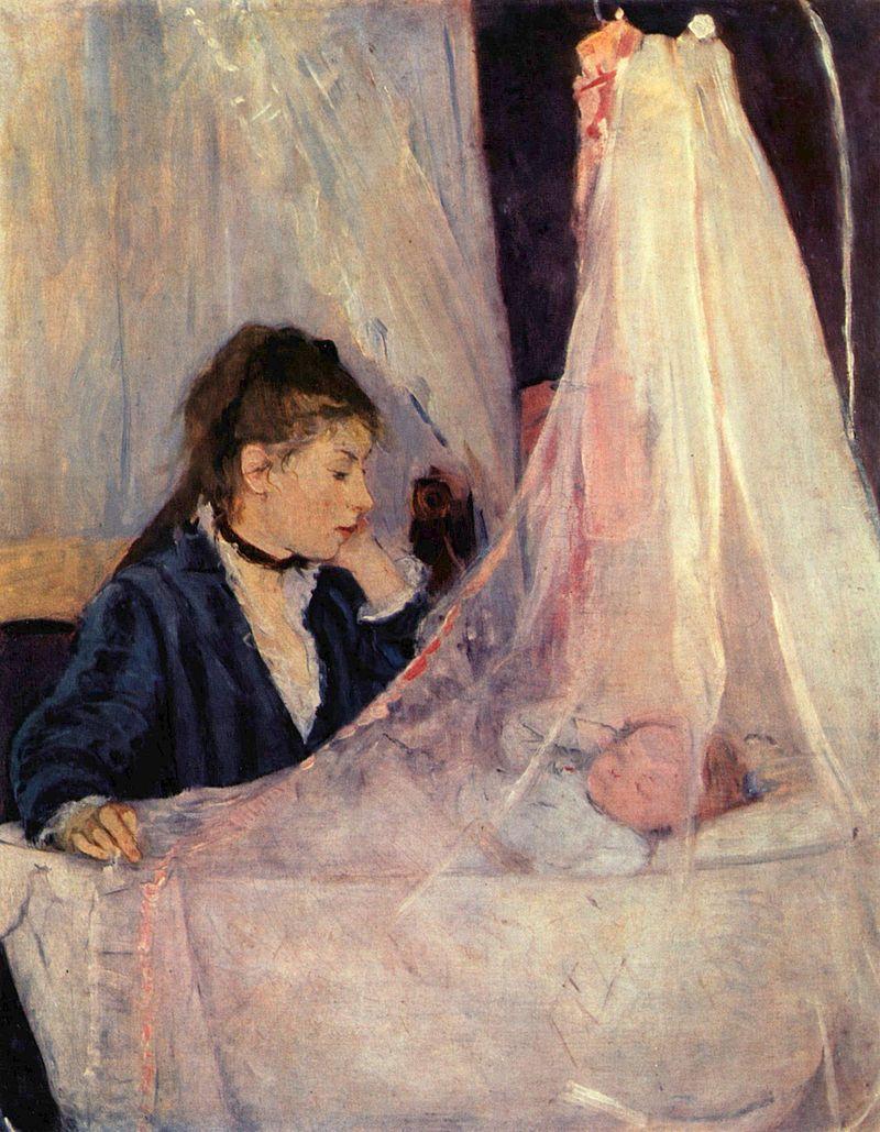Berthe Morisot La culla (Le Berceau), 1872 Museo d'Orsay di Parigi.