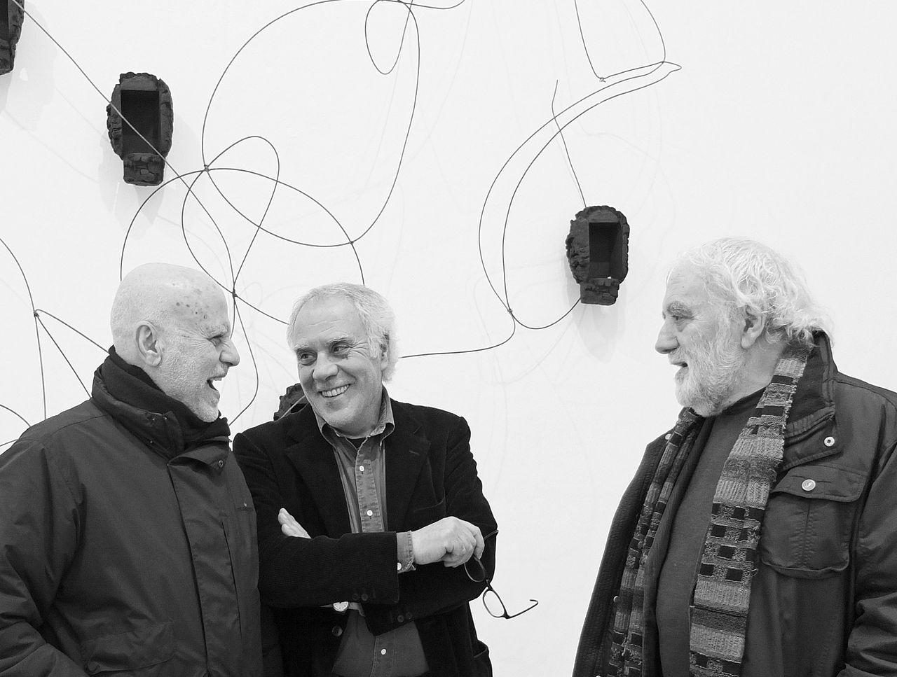 Ferdinando Scianna con Enzo Di Martino e Mimmo Paladino