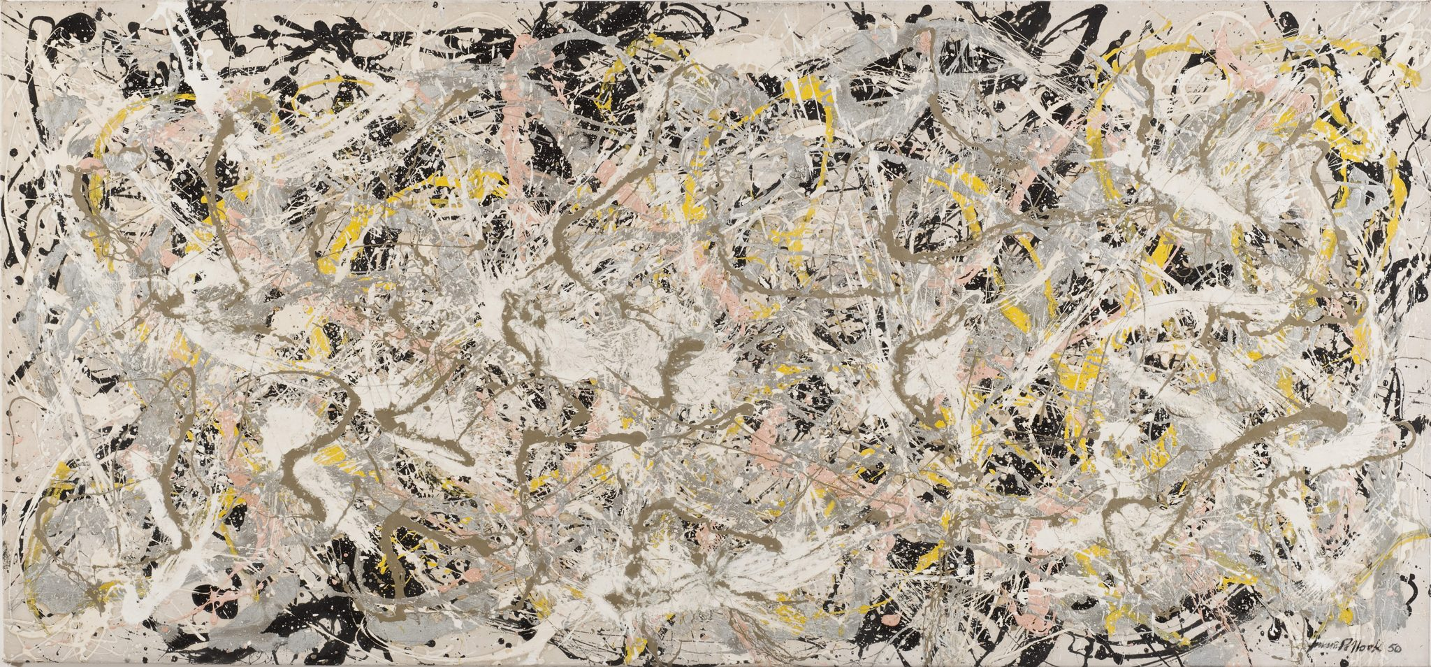 ROMA Jackson Pollock Number 27, 1950 Olio, smalto e pittura di alluminio su tela, 124,6x269,4 cm © Jackson Pollock by SIAE 2018 © Whitney Museum of American Art
