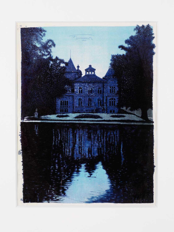 Jan Fabre Tivoli 1990 Bic ballpoint pen on serigraph / Penna a sfera bic su serigrafia 23,3 x 17,7 cm / framed: 116 x 91cm