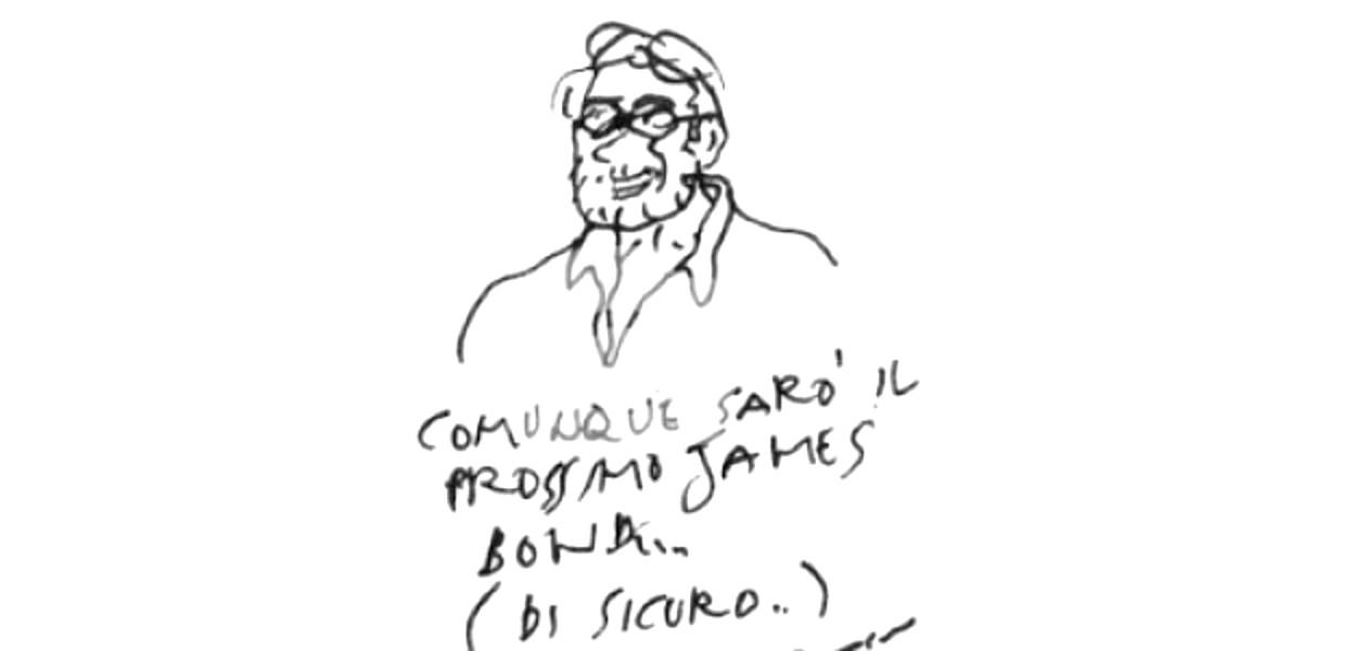 Una vignetta-autoritratto di Vincino