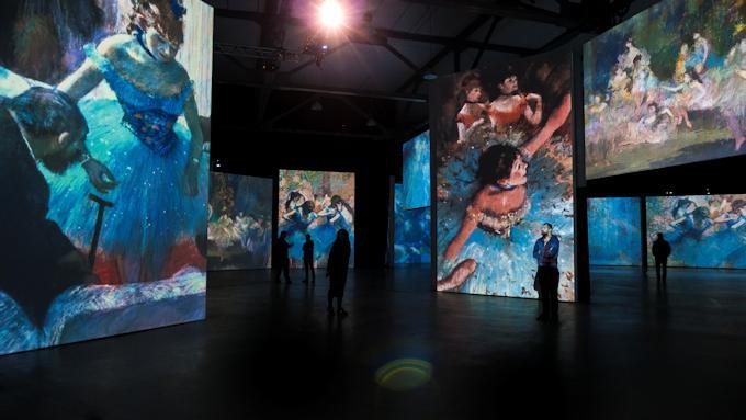quadri di Degas su mostra multimediale