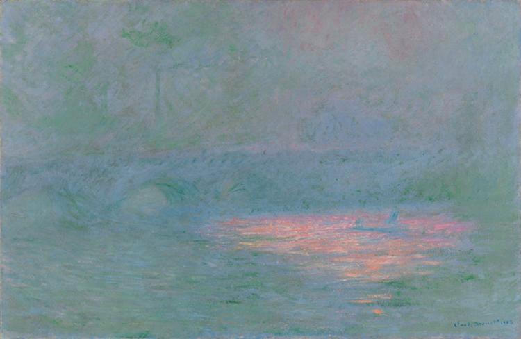 Claude Monet, Il Ponte di Waterloo (1902) Olio su tela, 65 x 100 cm Kunsthaus Zürich, Donazione Walter Haefner, 1995