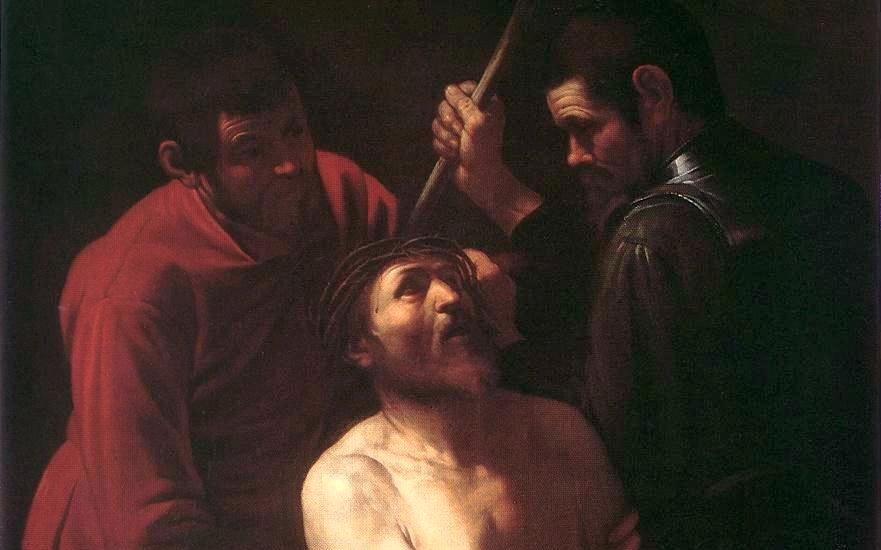 Caravaggio, Cristo incoronato di spine, Collezione Palazzo degli Alberti, Prato (particolare)
