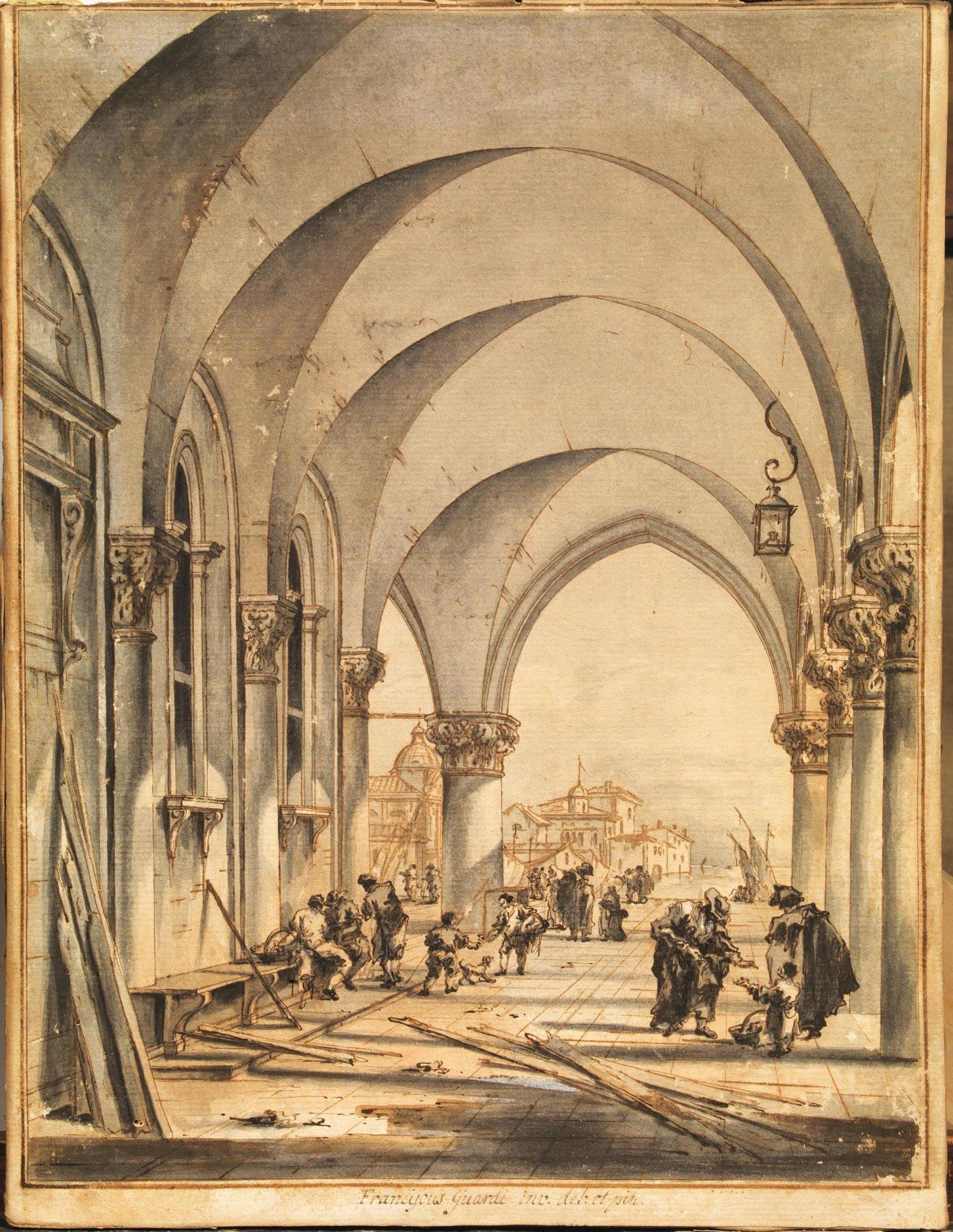 Francesco Guardi (Venezia, 1712 – 1793) SOTTOPORTICO DI PALAZZO DUCALE, Stima 30.000/50.000 euro