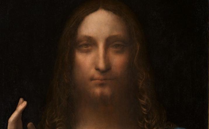 Leonardo da Vinci, Salvator Mundi, un particolare