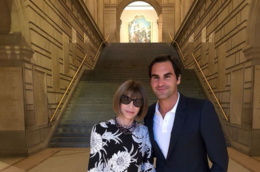 Roger Federer ed Anna Wintour al Metropolitan Museum di New York