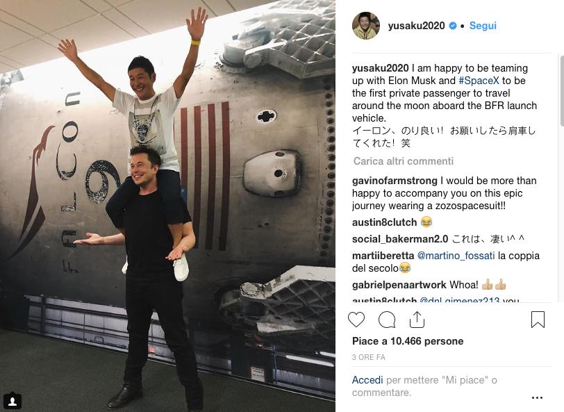Dopo Basquiat, la Luna. Yusaku Maezawa e il primo viaggio privato attorno al nostro satellite