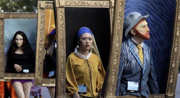 Halloween 2018: di moda i costumi da opera d'arte vivente, da van Gogh a Banksy