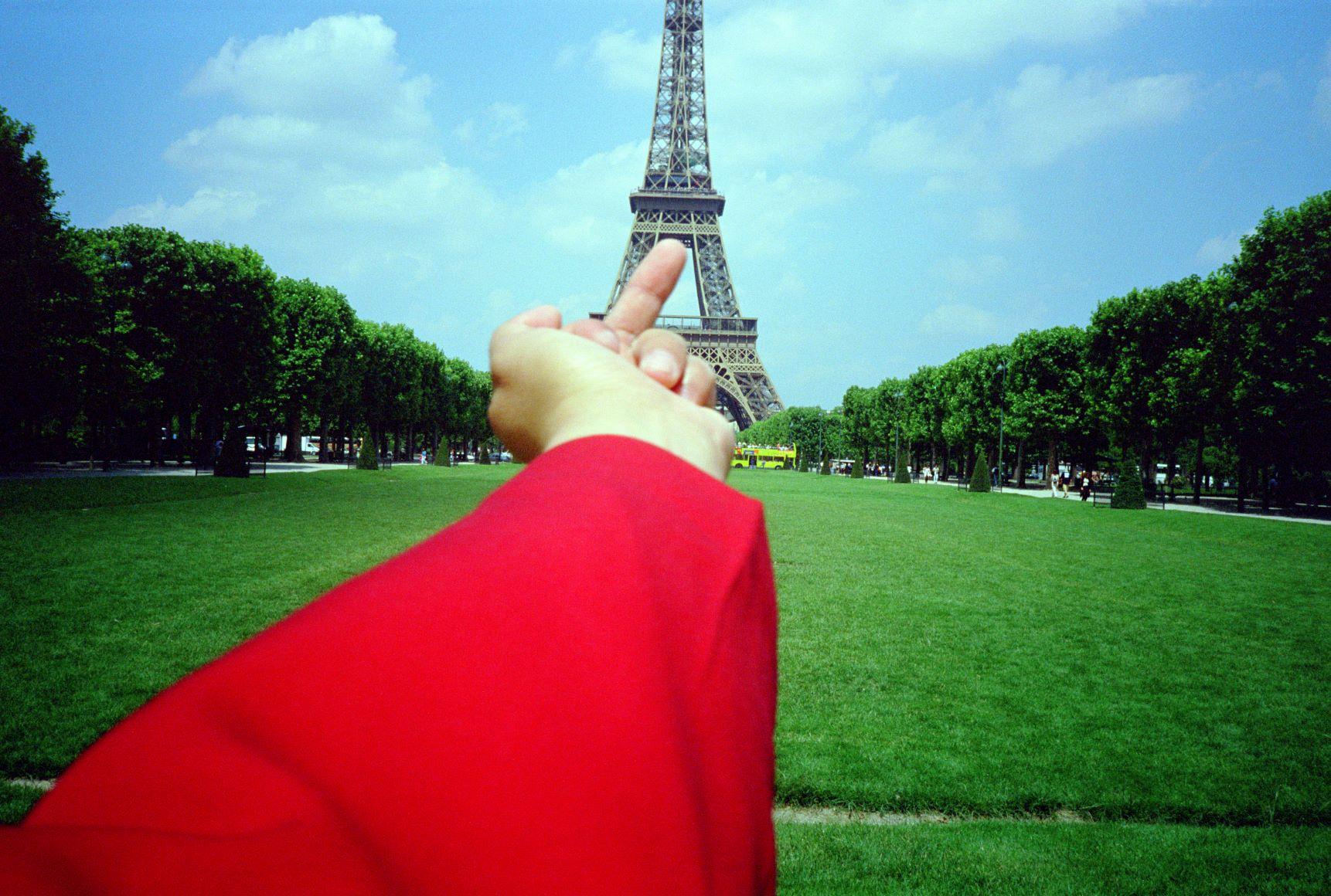 Ai_Weiwei_Study_of_Perspective_1995_2011_Eiffel_Tower_Paris_1999__Image_Courtesy_Ai_Weiwei_studio