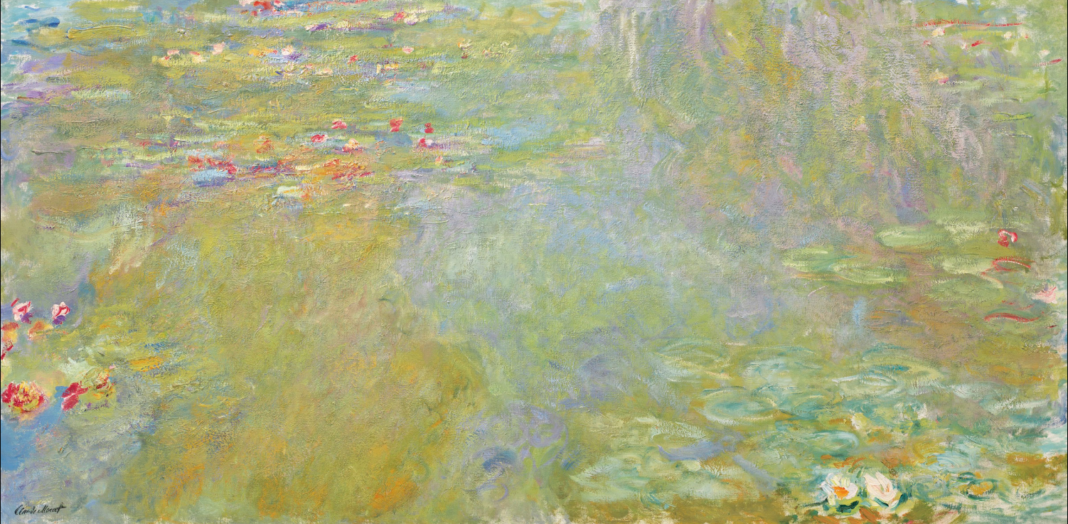 Claude Monet (1840-1926), Le bassin aux nymphéas, 1917-19. Oil on canvas. 100.7 x 200.8 cm. Estimate: $30,000,000-50,000,000