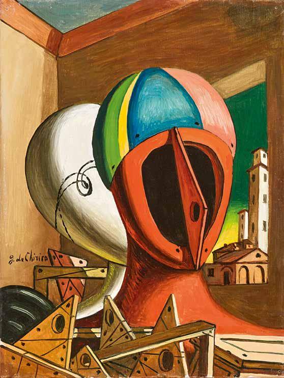 Giorgio de Chirico (1888–1978) Oreste e Pilade, 1966 olio su tela 40 x 30 cm € 140.000 – 180.000