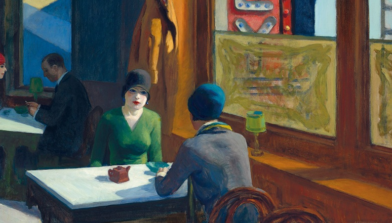 Edward Hopper, Chop Suey, 1929, un lotto dell'asta della Barney A. Ebsworth Collection (particolare)
