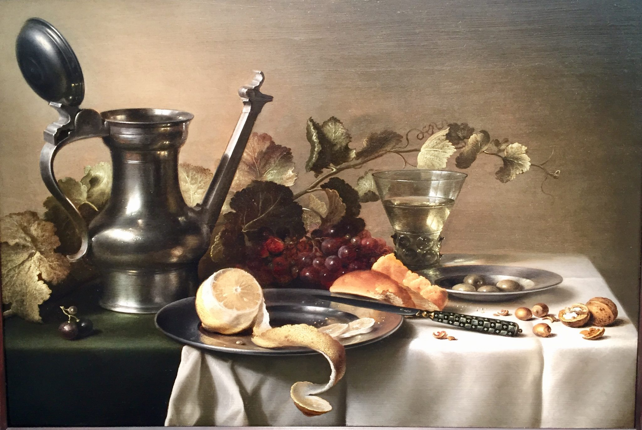 Pieter Claesz, Still Life with lemon, bread and knife. (1632 circa). Da Richard Green