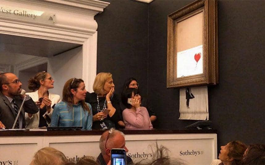 "Il Banksy ""autodistrutto"" all'asta Sotheby's Londra"