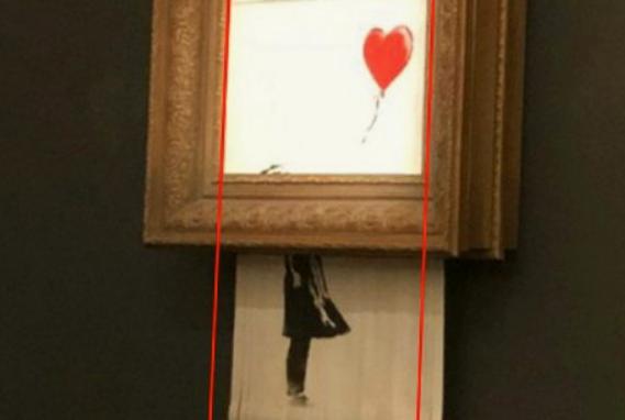Il Banksy distrutto, forse qualcosa non torna