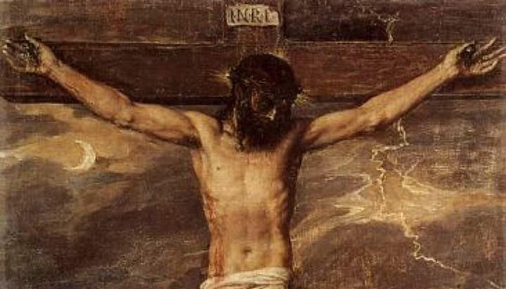 Il Cristo Crocefisso di Tiziano all'Escorial (particolare)