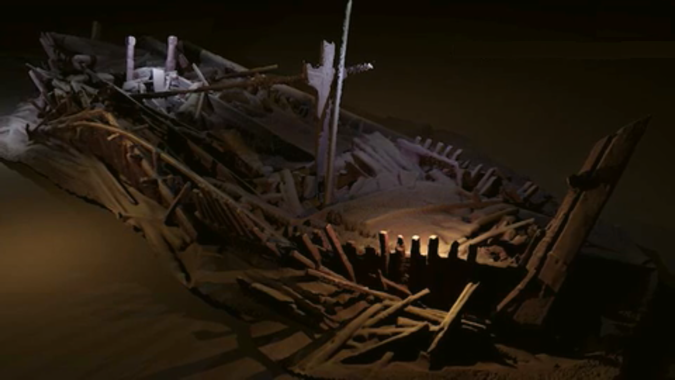 Il relitto della nave trovata sul fondo del Mar Nero