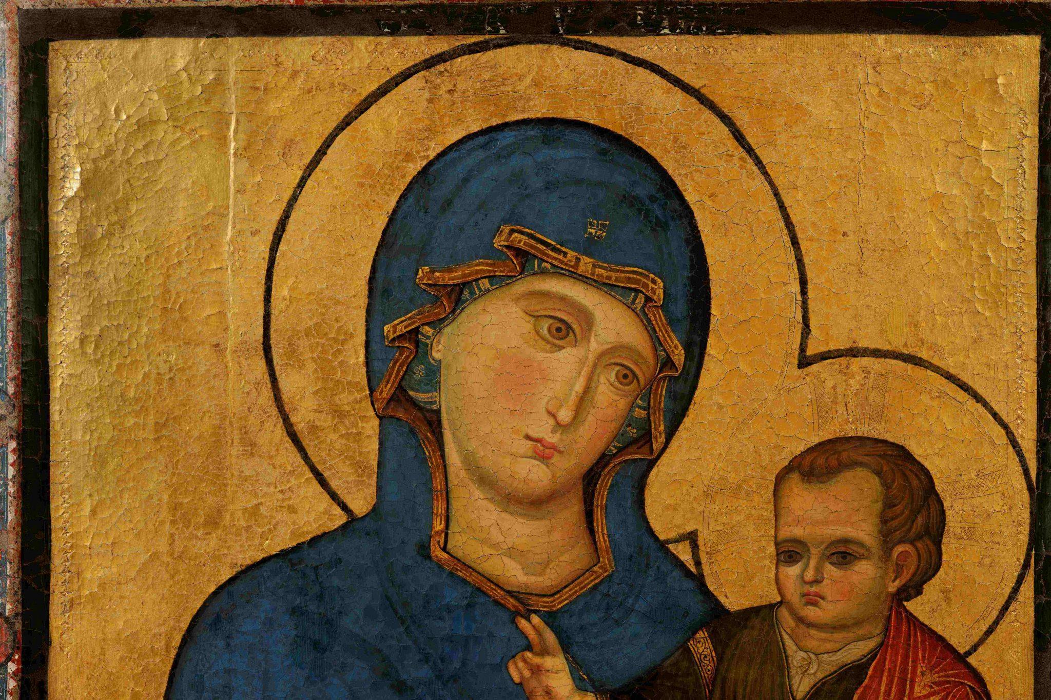 La Madonna di San Luca, attribuita a Filippo Rusuti (particolare)