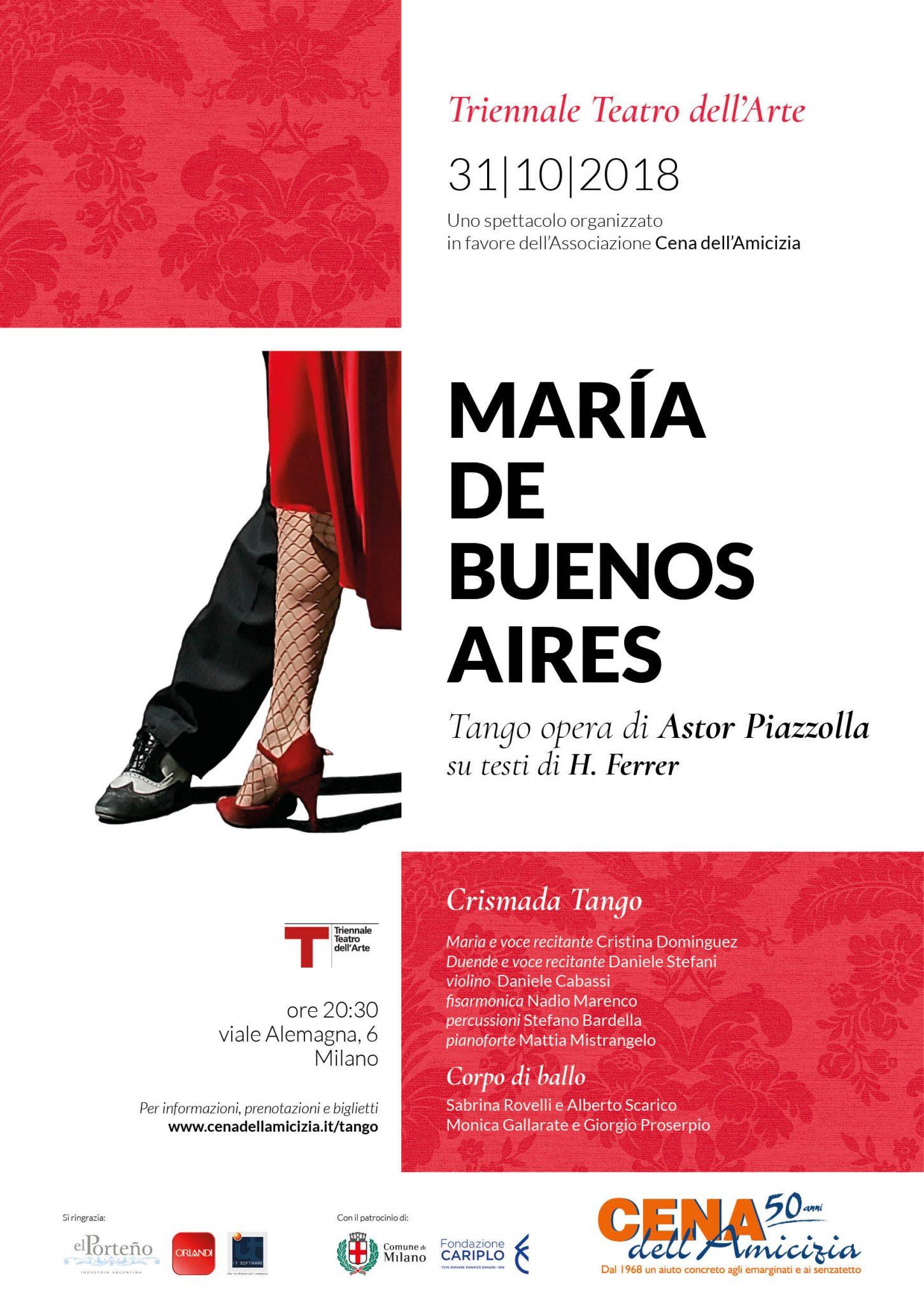 Marìa de Buenos Aires alla Triennale di Milano