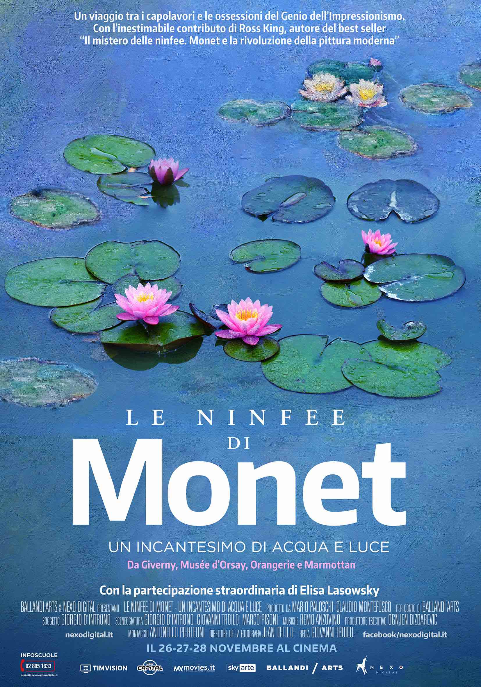 """Al cinema """"Le Ninfee di Monet. Un incantesimo di acqua e luce"""". Monet raccontato per immagini"""
